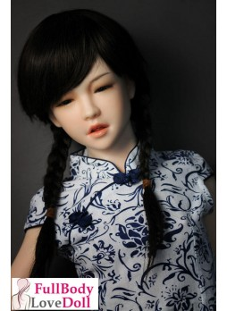 Small breast silicone doll DS138 little girl face