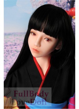 Japanese cute silicone doll with flat chested body 138 cm teen sex toy adult product
