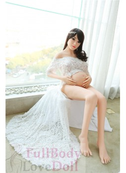 Pregnant sex doll 151 CM asian face woman