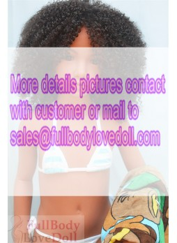 African girl sexy doll 106 cm dark tan skin baby face and chubby warm hands were nice to touch