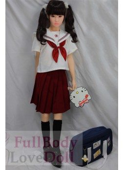 Primary school girl student sex doll 137cm flat chested body