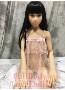 Little asian girl 137 cm skinny body with small breast skeleton TPE material doll