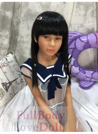 Asian tan skin color skin young japanese special make-up teenage 149 cm sexy doll with small tits
