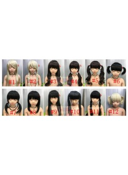 The wigs for lower than 125cm sex dolls free shipping
